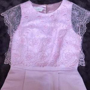 Baby Pink Ted Baker Dress w/ Lace